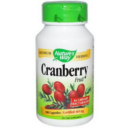 Nature's Way, Cranberry Fruit, 465mg, 100 Capsules