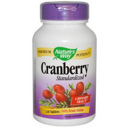 Nature's Way, Cranberry, Standardized, 120 Tablets
