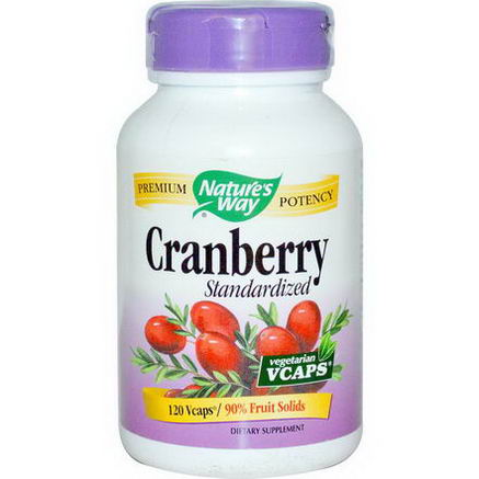 Nature's Way, Cranberry, Standardized, 120 Vcaps