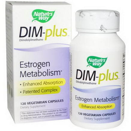 Nature's Way, DIM-plus, Estrogen Metabolism, 120 Veggie Caps