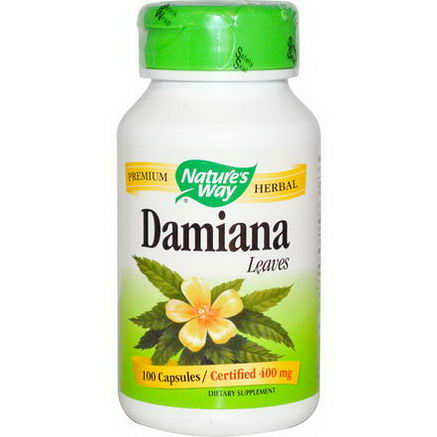 Nature's Way, Damiana, Leaves, 400mg, 100 Capsules
