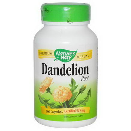 Nature's Way, Dandelion Root, 525mg, 100 Capsules