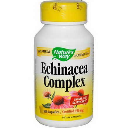 Nature's Way, Echinacea Complex, 450mg, 100 Capsules