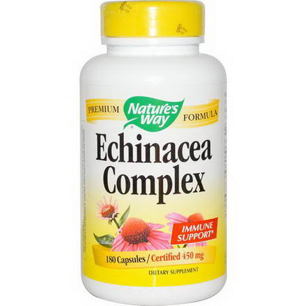 Nature's Way, Echinacea Complex, 450mg, 180 Capsules