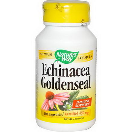 Nature's Way, Echinacea Goldenseal, 450mg, 100 Capsules