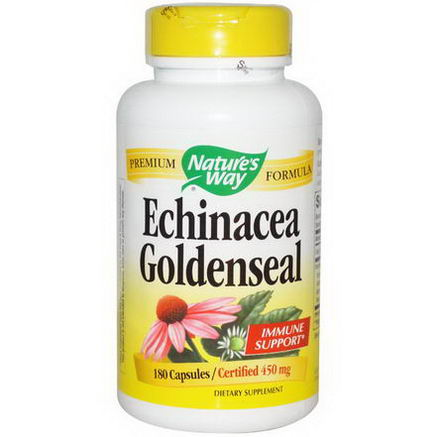 Nature's Way, Echinacea Goldenseal, 450mg, 180 Capsules