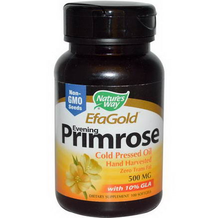 Nature's Way, EfaGold, Evening Primrose, 500mg, 100 Softgels