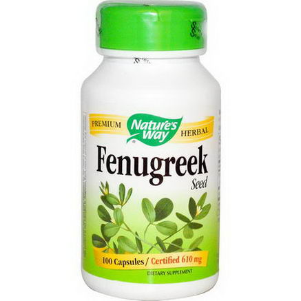 Nature's Way, Fenugreek Seed, 610mg, 180 Capsules