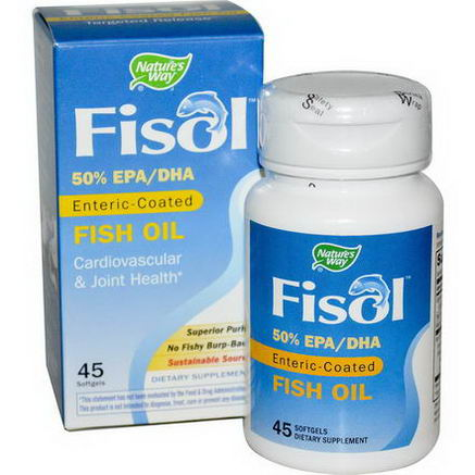 Nature's Way, Fisol, Enteric-Coated Fish Oil, 45 Softgels