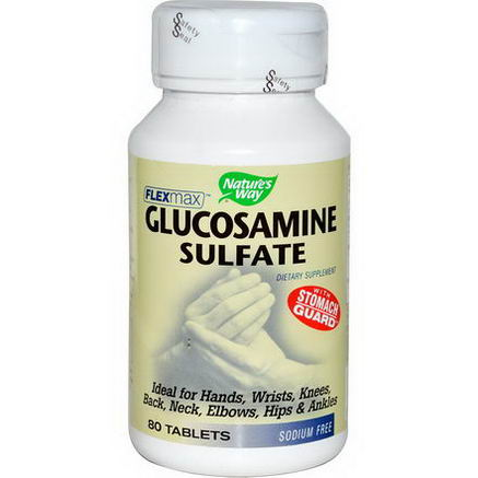 Nature's Way, FlexMax, Glucosamine Sulfate, Sodium Free, 80 Tablets