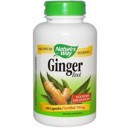 Nature's Way, Ginger Root, 550mg, 180 Capsules