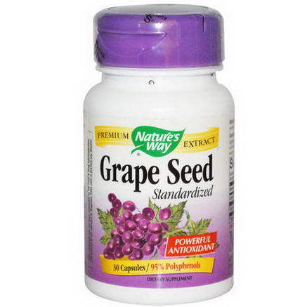 Nature's Way, Grape Seed, Standardized, 30 Capsules