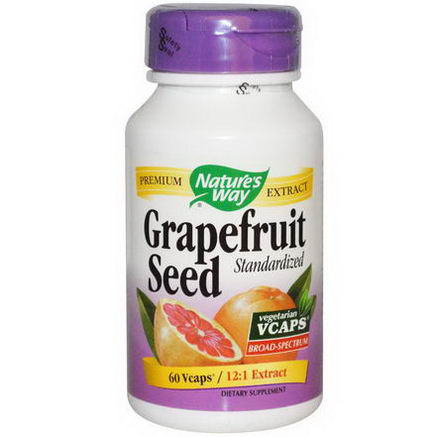 Nature's Way, Grapefruit Seed, Standardized, 60 Vcaps