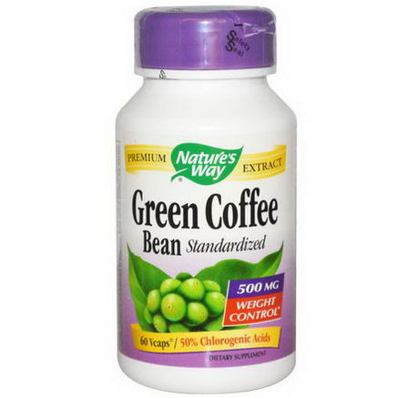Nature's Way, Green Coffee Bean, Standardized, 500mg, 60 Vcaps