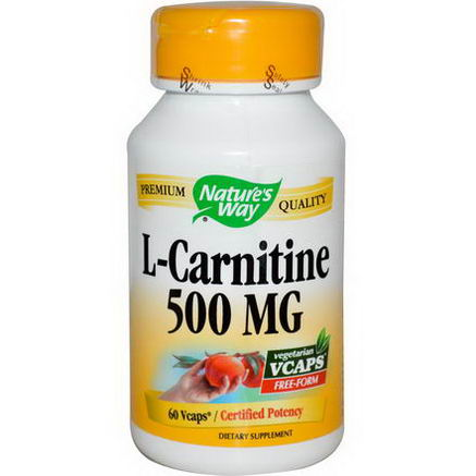 Nature's Way, L-Carnitine, 500mg, 60 Vcaps