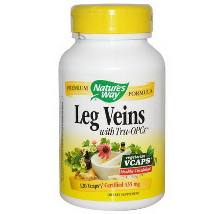 Nature's Way, Leg Veins with Tru-OPCs, 435mg, 120 Vcaps