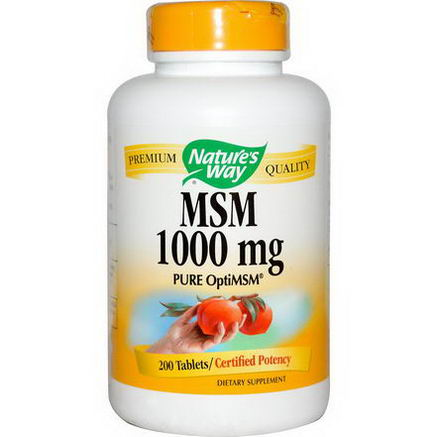Nature's Way, MSM, Pure OptiMSM, 1000mg, 200 Tablets