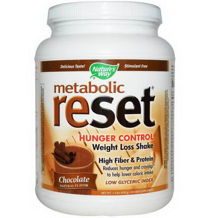 Nature's Way, Metabolic Reset, Hunger Control, Weight Loss Shake, Powder, Chocolate, 1.4 lbs (630g)