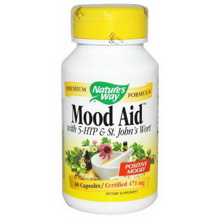 Nature's Way, Mood Aid, with 5-HTP & St. John's Wort, 471mg, 60 Capsules