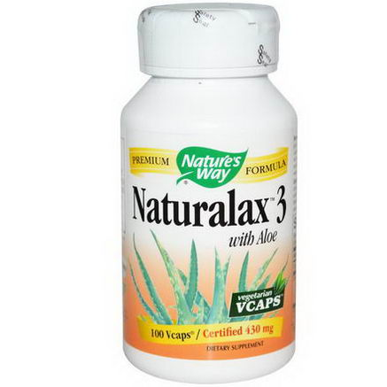 Nature's Way, Naturalax3, with Aloe, 430mg, 100 Vcaps