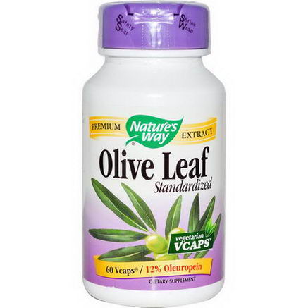Nature's Way, Olive Leaf, Standardized, 60 Vcaps