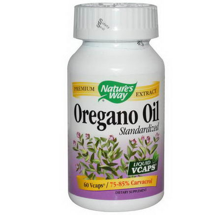 Nature's Way, Oregano Oil, Standardized, 60 Vcaps