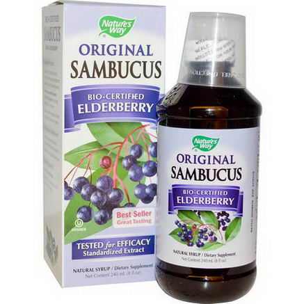 Nature's Way, Original Sambucus, Elderberry, Natural Syrup, 8 fl oz (240 ml)