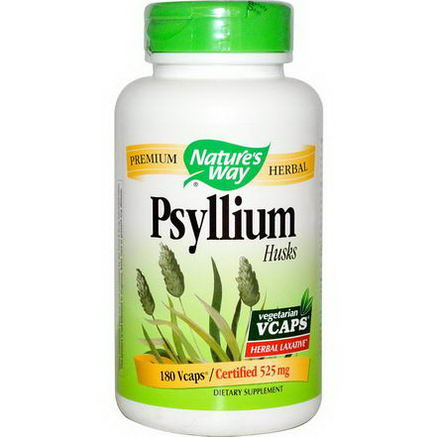 Nature's Way, Psyllium, Husks, 525mg, 180 Vcaps