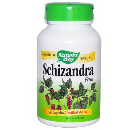 Nature's Way, Schizandra Fruit, 580mg, 100 Capsules