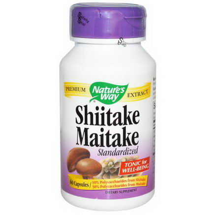 Nature's Way, Shiitake Maitake, Standardized, 60 Capsules