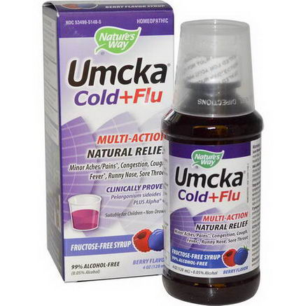 Nature's Way, Umcka Cold+Flu, Berry Flavor, 4oz (120 ml)