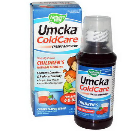 Nature's Way, Umcka ColdCare, Children's, Cherry Flavor Syrup, 4 fl oz (120 ml)
