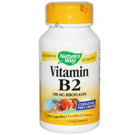 Nature's Way, Vitamin B2, 100mg, 100 Capsules