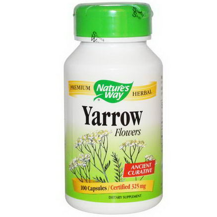 Nature's Way, Yarrow Flowers, 325mg, 100 Capsules