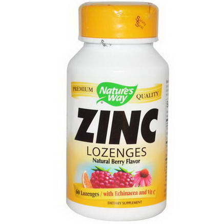 Nature's Way, Zinc Lozenges, Natural Berry Flavor, 60 Lozenges