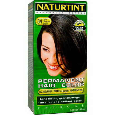 Naturtint, Permanent Hair Color, 5N Light Chestnut Brown, 5.28 fl oz (150 ml)