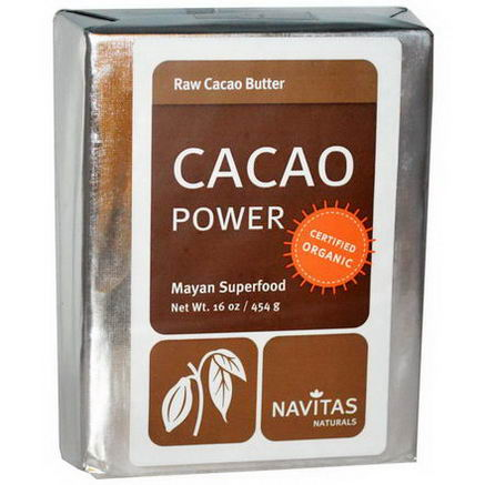 Navitas Naturals, Cacao Power, Raw Cacao Butter, 16oz (454g)