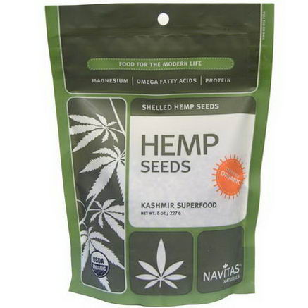 Navitas Naturals, Organic, Hemp Seeds, Shelled, 8oz (227g)