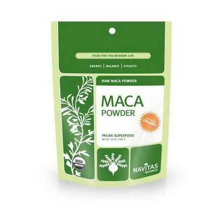 Navitas Naturals, Organic, Maca Powder, Raw, 16oz (454g)