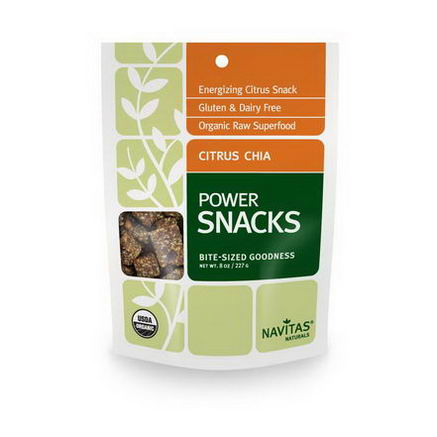 Navitas Naturals, Power Snacks, Citrus Chia, 8oz (227g)