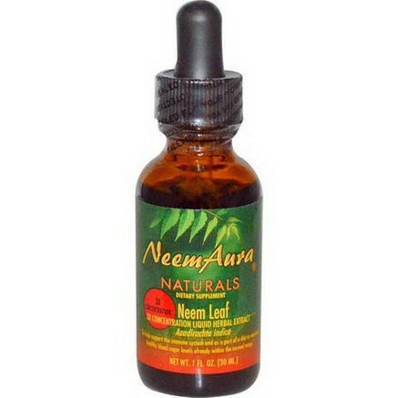 Neemaura Naturals Inc, Neem Leaf, 3X Concentration, Extract, 1 fl oz (30 ml)