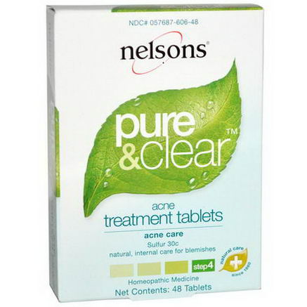 Nelson Bach USA, Pure & Clear, Acne Treatment, Step 4, 48 Tablets