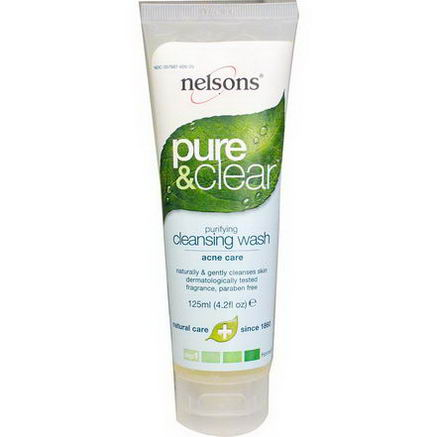 Nelson Bach USA, Pure & Clear, Purifying Cleansing Wash, Step 1, 4.2 fl oz (125 ml)