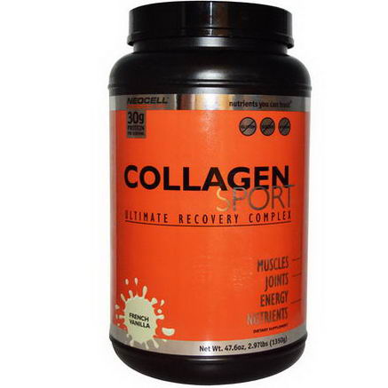 Neocell, Collagen Sport, Ultimate Recovery Complex, French Vanilla, 47.6oz (1350g)