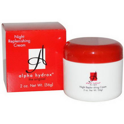 Neoteric Cosmetics Inc, Alpha Hydrox, Night Replenishing Cream, 2oz (56g)