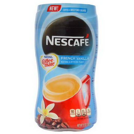 Nescafe, Nestle Coffee-Mate, Instant Coffee Mix & Sweetened Creamer, French Vanilla, 12oz (340.1g)