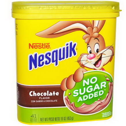 Nesquik, Nestle, Chocolate Flavor, No Sugar Added, 16oz (453g)