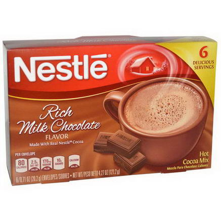 Nestle Hot Cocoa Mix, Rich Milk Chocolate Flavor, 6 Packets, 0.71oz (20.2g) Each