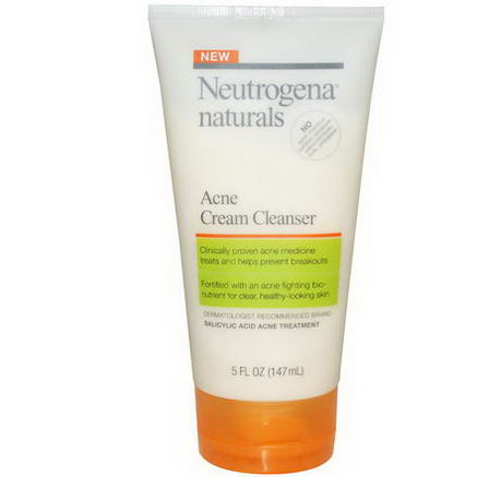 Neutrogena Naturals, Acne Cream Cleanser, 5 fl oz (147 ml)