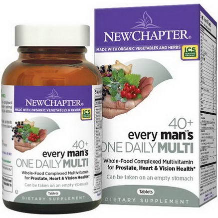 New Chapter, 40+ Every Man's One Daily Multi, 86 Tablets